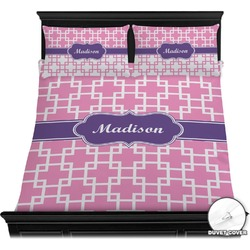 Linked Squares Duvet Cover Set (Personalized)