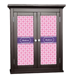 Linked Squares Cabinet Decal - Large (Personalized)