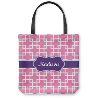 Linked Squares Canvas Tote Bag (Personalized)