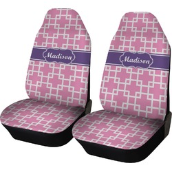 Linked Squares Car Seat Covers (Set of Two) (Personalized)