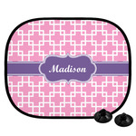 Linked Squares Car Side Window Sun Shade (Personalized)