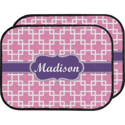 Linked Squares Car Floor Mats (Back Seat) (Personalized)