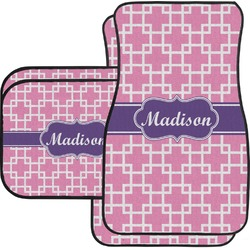 Linked Squares Car Floor Mats (Personalized)