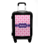 Linked Squares Carry On Hard Shell Suitcase (Personalized)