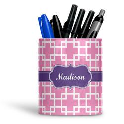 Linked Squares Ceramic Pen Holder