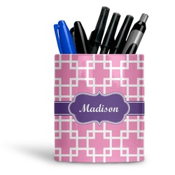 Linked Squares Ceramic Pen Holder