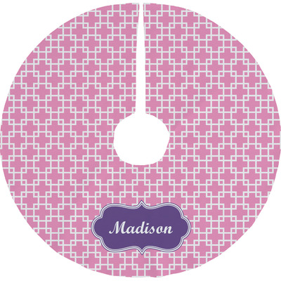 Linked Squares Tree Skirt (Personalized)