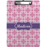 Linked Squares Clipboard (Personalized)
