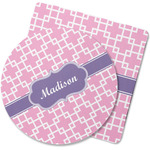 Linked Squares Rubber Backed Coaster (Personalized)