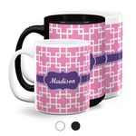 Linked Squares Coffee Mugs (Personalized)