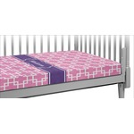 Linked Squares Crib Fitted Sheet (Personalized)