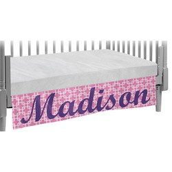 Linked Squares Crib Skirt (Personalized)