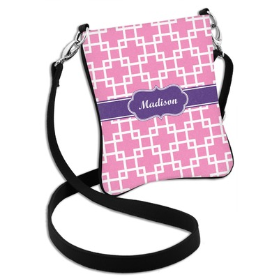 Linked Squares Cross Body Bag - 2 Sizes (Personalized)