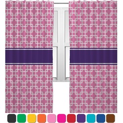 Linked Squares Curtains (2 Panels Per Set) (Personalized)
