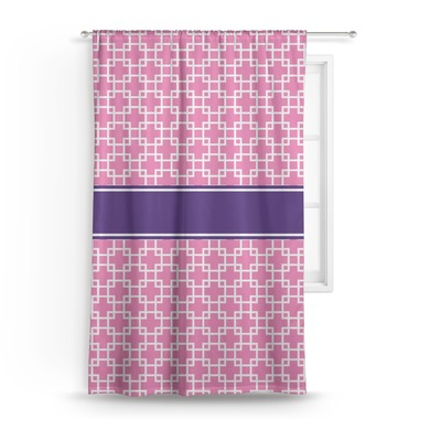 Linked Squares Curtain (Personalized)