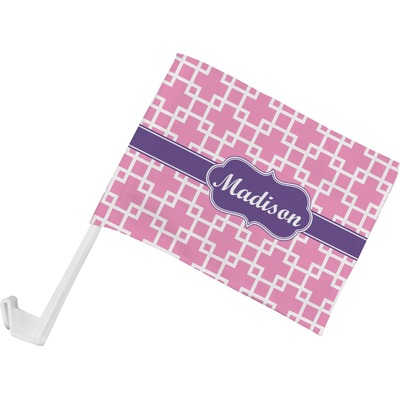 Linked Squares Car Flag (Personalized)