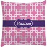 Linked Squares Decorative Pillow Case (Personalized)