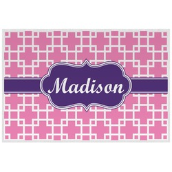 Linked Squares Placemat (Laminated) (Personalized)