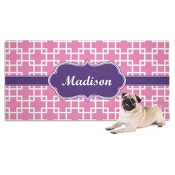 Linked Squares Dog Towel (Personalized)