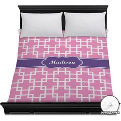 Linked Squares Duvet Cover (Personalized)