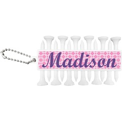 Linked Squares Golf Tees & Ball Markers Set (Personalized)