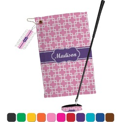 Linked Squares Golf Towel Gift Set (Personalized)