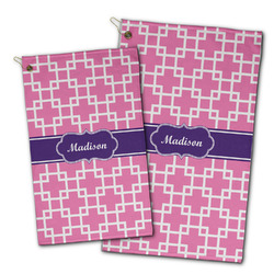 Linked Squares Golf Towel - Full Print w/ Name or Text