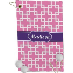 Linked Squares Golf Towel - Full Print (Personalized)