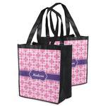 Linked Squares Grocery Bag (Personalized)