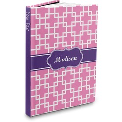 Linked Squares Hardbound Journal (Personalized)