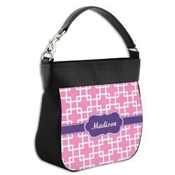 Linked Squares Hobo Purse w/ Genuine Leather Trim (Personalized)