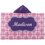 Linked Squares Kids Hooded Towel (Personalized)
