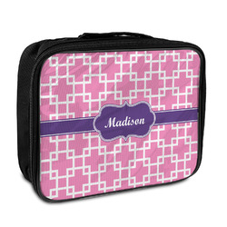 Linked Squares Insulated Lunch Bag (Personalized)