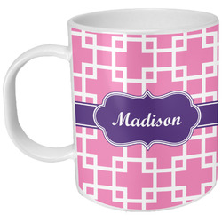 Linked Squares Plastic Kids Mug (Personalized)