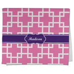 Linked Squares Kitchen Towel - Full Print (Personalized)