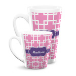 Linked Squares Latte Mug (Personalized)