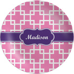Linked Squares Melamine Plate (Personalized)
