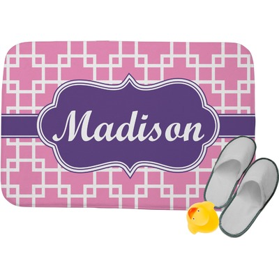 "Linked Squares Memory Foam Bath Mat - 24""x17"" (Personalized)"