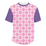 Linked Squares Men's Crew T-Shirt (Personalized)