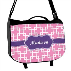 Linked Squares Messenger Bag (Personalized)