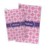 Linked Squares Microfiber Golf Towel (Personalized)