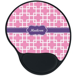 Linked Squares Mouse Pad with Wrist Support