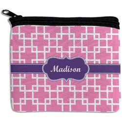 Linked Squares Rectangular Coin Purse (Personalized)