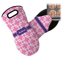 Linked Squares Neoprene Oven Mitt (Personalized)