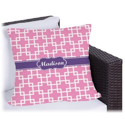 Linked Squares Outdoor Pillow (Personalized)