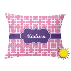Linked Squares Outdoor Throw Pillow (Rectangular) (Personalized)