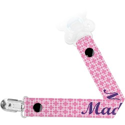 Linked Squares Pacifier Clips (Personalized)
