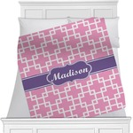 Linked Squares Minky Blanket (Personalized)