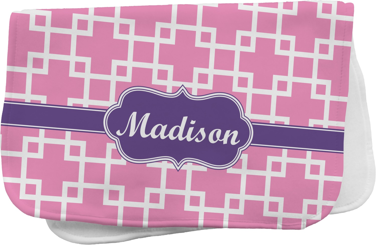 Linked Squares Burp Cloth Personalized Youcustomizeit