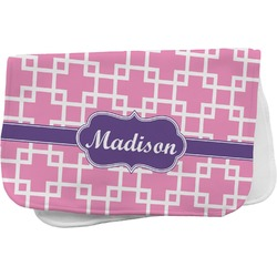 Linked Squares Burp Cloth (Personalized)